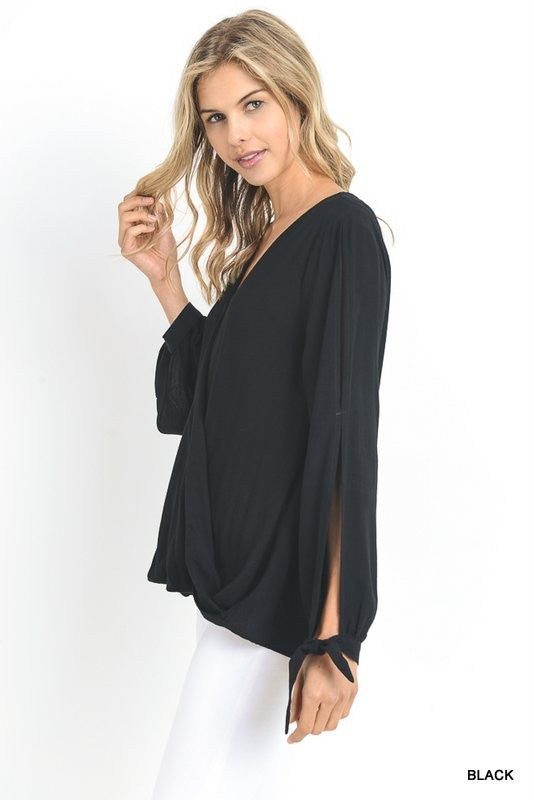 The Missy Top with gorgeous cutouts on sleeves