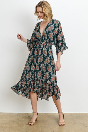 New arrival fall pattern dress in navy