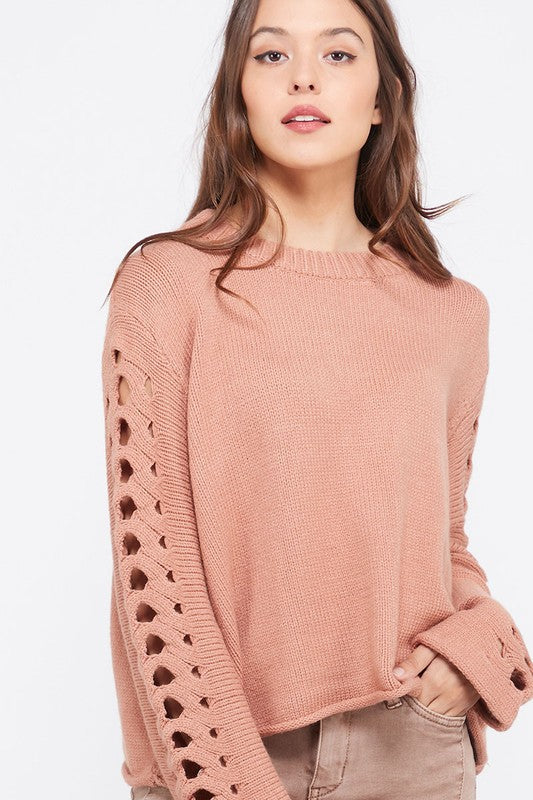 Gorgeous ginger sweater with sleeve detail