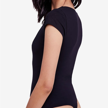 Freepeople square neck bodysuit in black