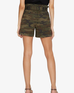 Sanctuary paper waist shorts camo