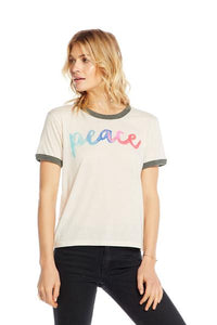 Chaser watercolor Peace tee