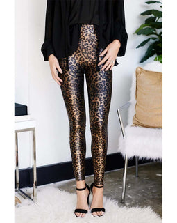 Spanx leopard leggings