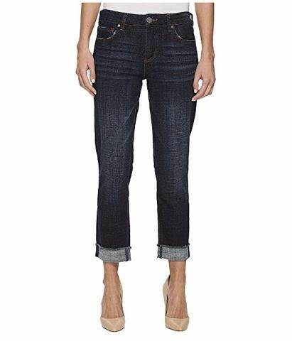 KFTK Amy Straight Leg Crop Denim