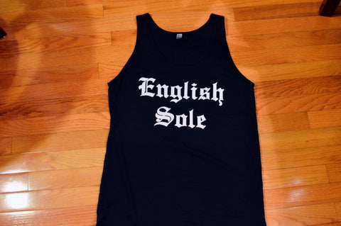 "English Sole ""Old English"" Black Tank Top - EnglishSole"