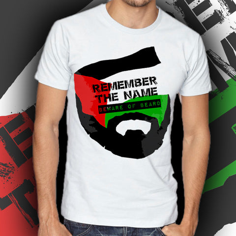 "Belal Muhammad ""Beware of Beard"" T-Shirt"