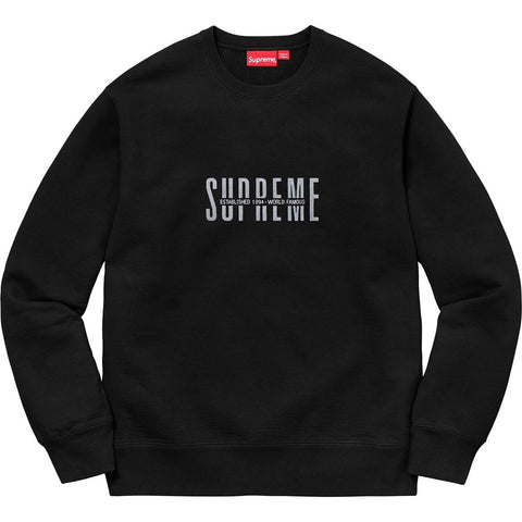 Supreme - World Famous Crewneck (Black)