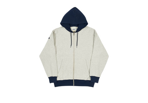 Palace - Border Hooded Sweatshirt (Grey Marl/Navy)