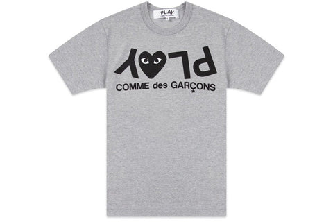 Comme Des Garçons - PLAY Inverted text Tee (Grey)