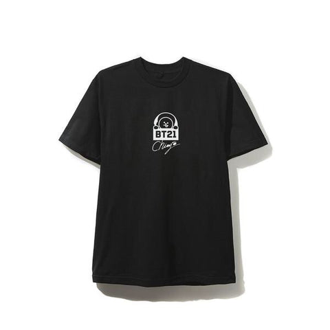 BT21 x AntiSocial Social Club - Chimmy Black Logo Tee
