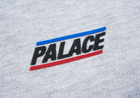Palace - Basically A Pique T-Shirt (Grey Marl)