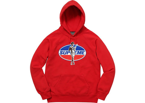 Supreme x HYSTERIC GLAMOUR - Hooded Sweatshirt (Red)