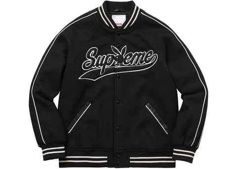 Supreme/Playboy Wool Varsity Jacket (Black)