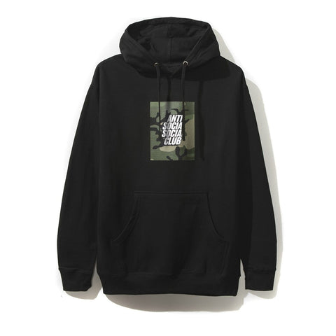 AntiSocial Social Club - Camo Box Logo Hoodie (Black)