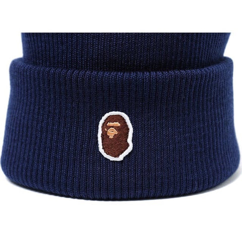 BAPE - One Point Beanie (Navy)