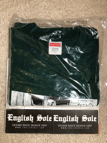 Supreme x Mike Kelley - Hiding from the indians Tee (Dark Green)