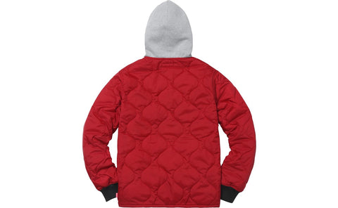Supreme: Quilted Liner Hooded Jacket (dark red)