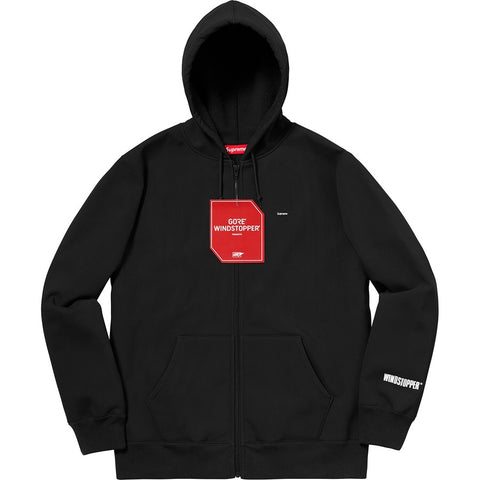 Supreme x Goretex - Windstopper Zip Up Hooded Sweatshirt (black)