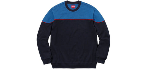 Supreme - Yoke Piping L/S Top (Navy)