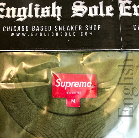 "Supreme - ""Best in the World"" L/S Tee (Pale Olive)"