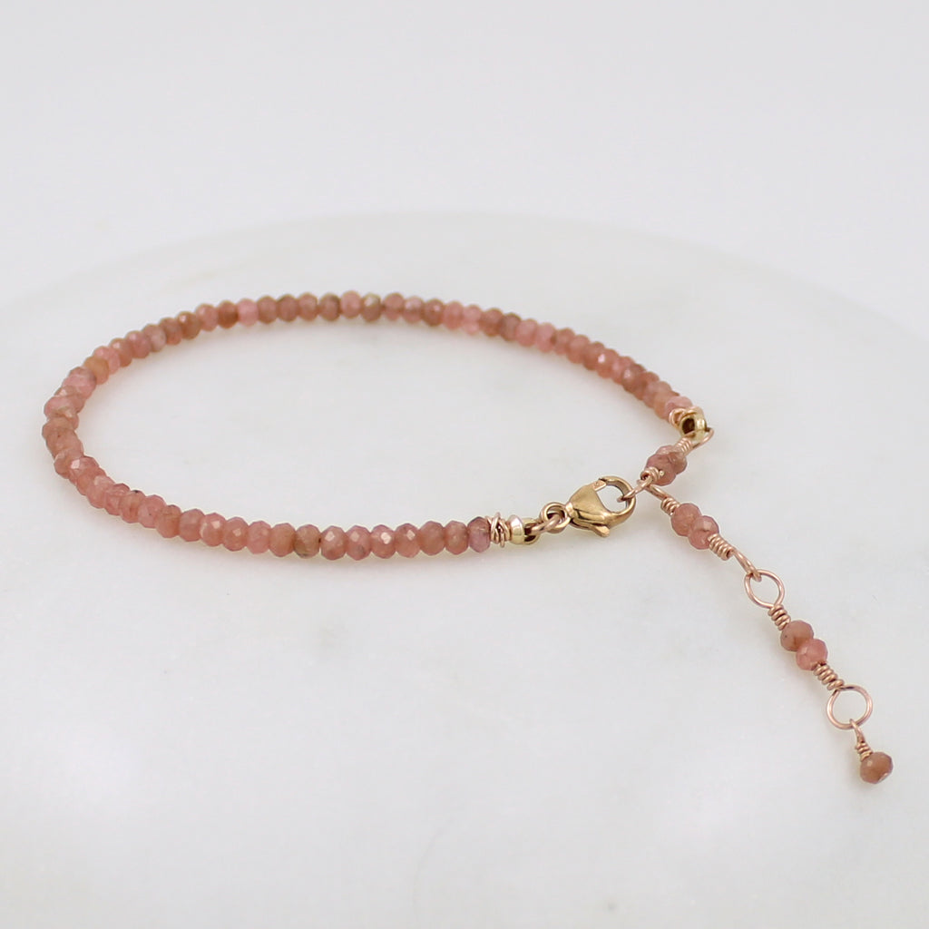 Rose Gold Gemstone Stacking Bracelet