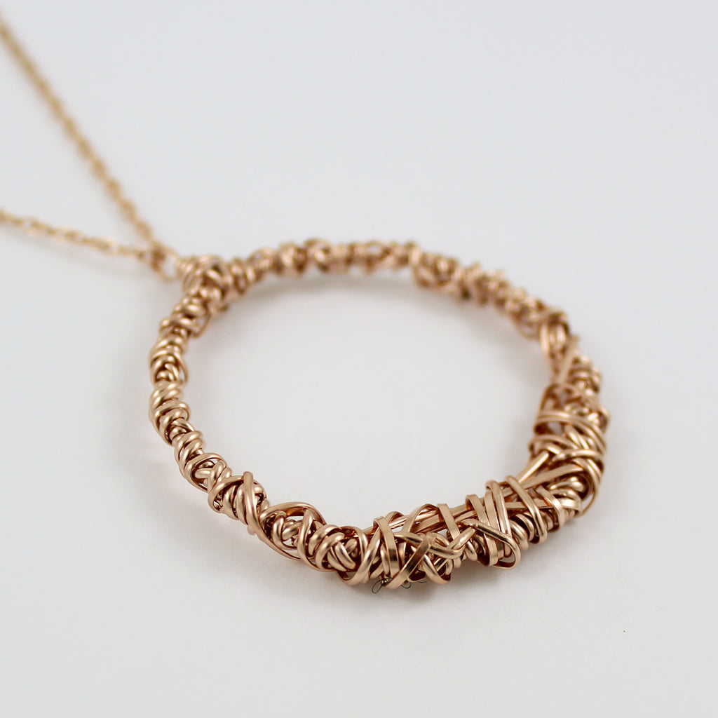 Rose Gold Fill OOAK Necklace (H)