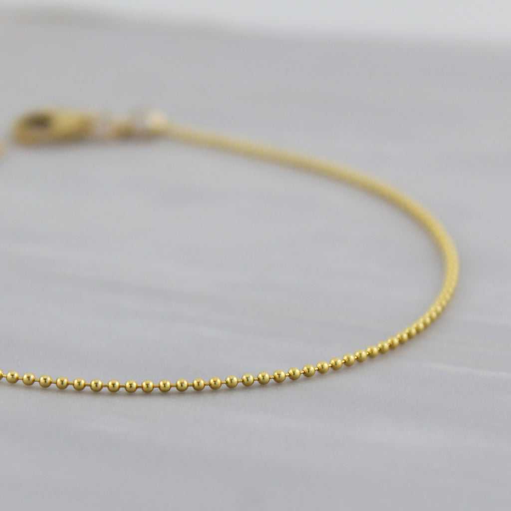 Tiny Ball Chain Bracelet (Hinchley)