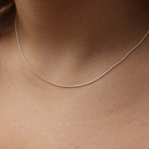 Tiny Ball Chain - Sterling Silver (Hinchley)