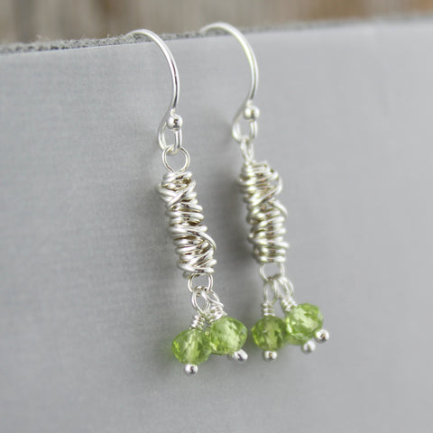 Gemstone and Micro Twist Earrings