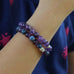 Stretchy Gemstone Bracelet w/ Sterling Twist (kids)