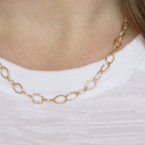 Hammered Oval Chain (Hinchley)