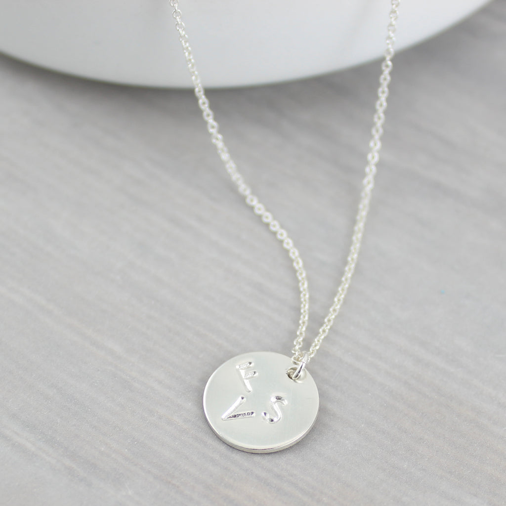 Family Monogram Pendant - Sterling Silver