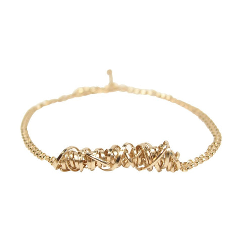 Gold Twist Bracelet - Small