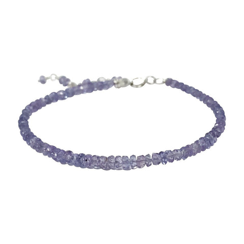 Silver Stackable Gemstone Bracelet