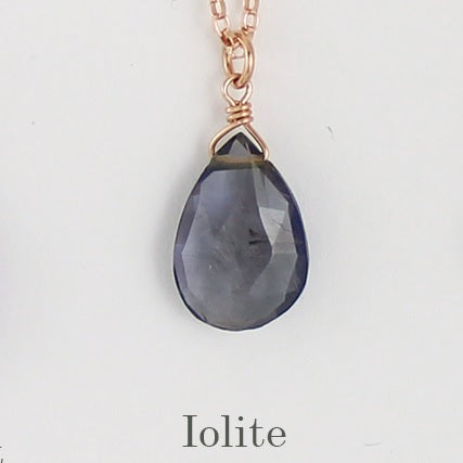 Rose Gold Fill Gemstone Solo Necklace