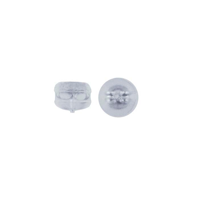 Premium Silicone and Silver Earring Backing (1 pair)