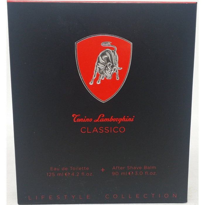 Lamborghini Classico 2 pcs Set  cologne EDT 4.2 oz After Shave Balm New in Box
