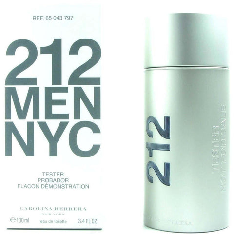 212 Men NYC by Carolina Herrera Cologne 3.4 oz EDT New in box tester