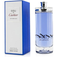 Eau De Cartier Vetiver Bleu men cologne edt 6.8 oz 6.7 NEW IN BOX - 6.8 oz / 200 ml