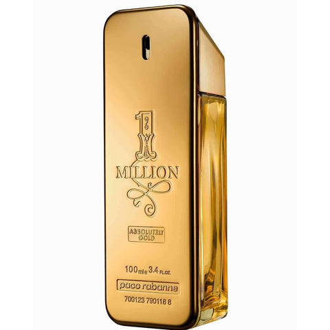 1 MILLION ABSOLUTELY GOLD by Paco Rabanne pure perfume 3.3 / 3.4 oz New Tester