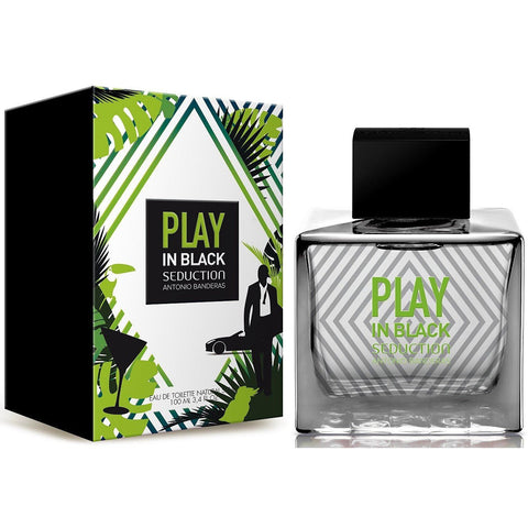 Play In Black Seduction by Antonio Banderas cologne EDT 3.3 / 3.4 oz New in Box