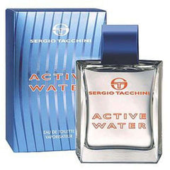 ACTIVE WATER by SERGIO TACCHINI 3.3/3.4 oz Men EDT NEW in BOX