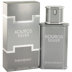KOUROS SILVER by Yves Saint Laurent 3.3 EDT MEN 3.4 oz YSL New in Box