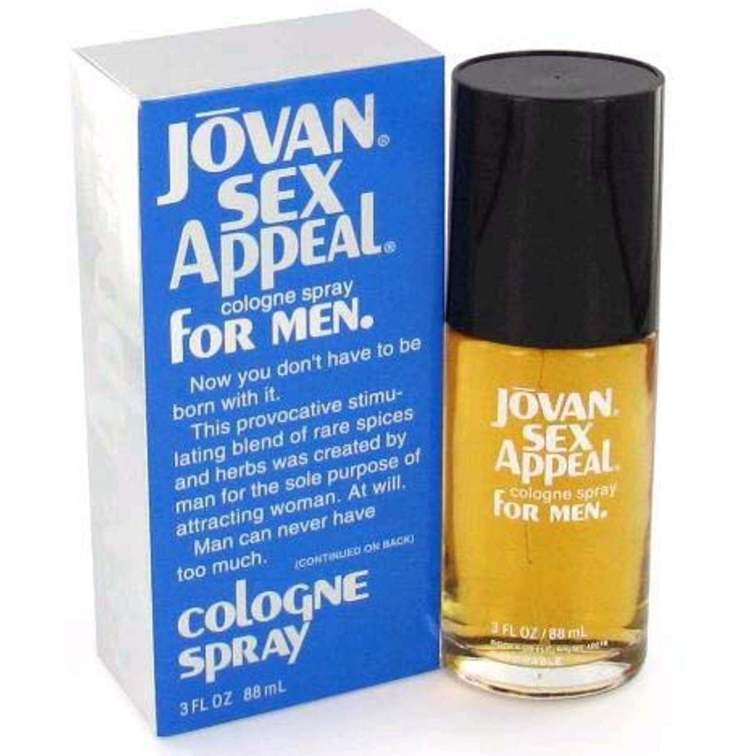 Jovan Sex Appeal By Coty Cologne 30 Oz Spray For Men