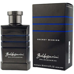 BALDESSARINI SECRET MISSION Hugo Boss MEN edt 3.0 oz Cologne New In Box - 3.0 oz / 90 ml