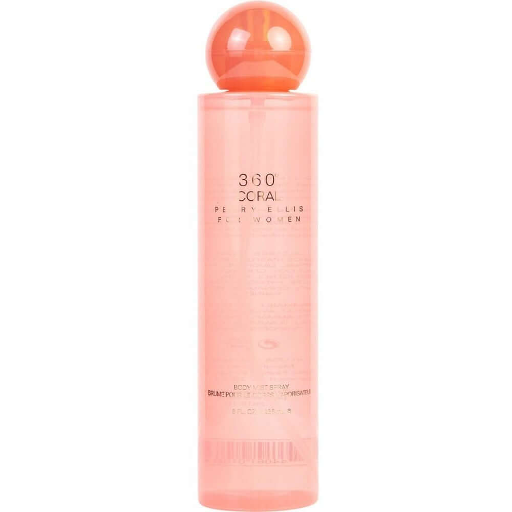 360 coral by Perry Ellis for Women Body Mist 8 oz New