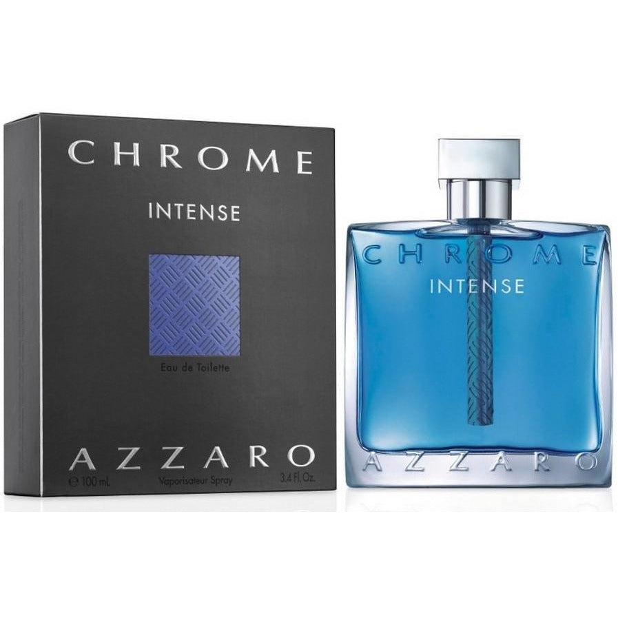 CHROME INTENSE by Loris Azzaro for Men Cologne 3.3 oz / 3.4 oz New in Box - 3.4 oz / 100 ml