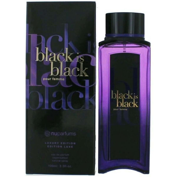 Black Is Black Pour Femme Luxury Edition by Nuparfums EDP 3.3 / 3.4 oz New in Box