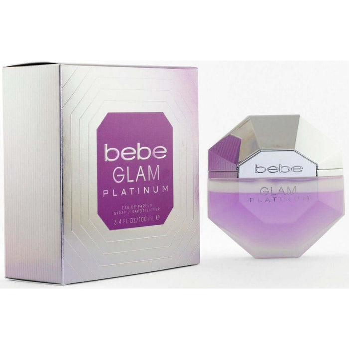 Bebe Glam Platinum by Bebe perfume for her EDP 3.3 / 3.4 oz New in Box