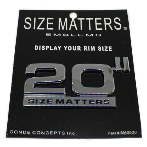 "20"" SIZE MATTERS EMBLEMS DECAL SM0020"